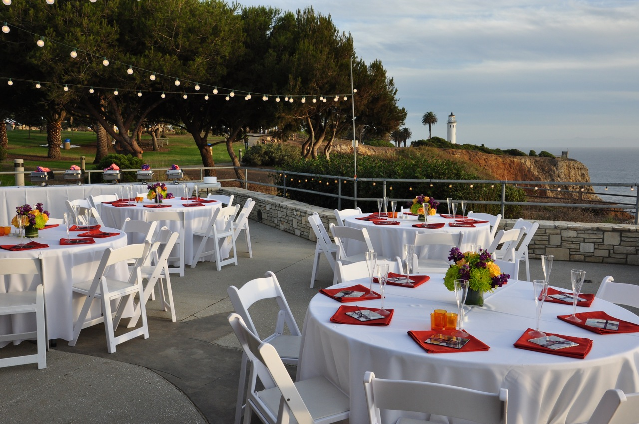 Palos Verdes Interpretive Center Wedding View Of Pt Vicente Lighthouse