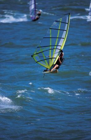 Windsurfing is popular off of San Pedro's Cabrillo Beach
