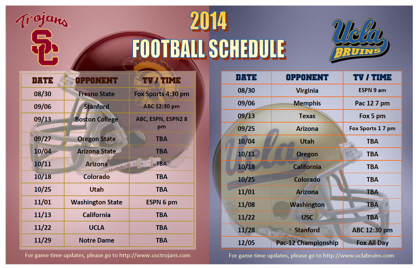 ucla football schedule